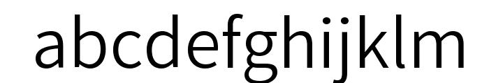 Varta Light Font LOWERCASE