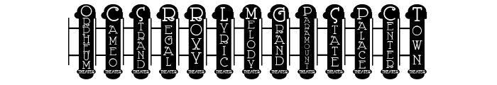 Vaudeville Theater Signs JL Font UPPERCASE