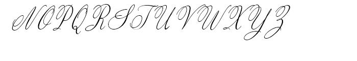 Valentine Light Italic Font UPPERCASE