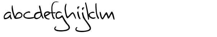 Valerian Handwriting Regular Font LOWERCASE