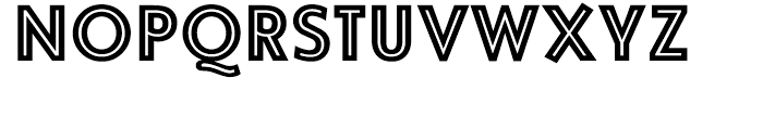 Vanquish Inline Font UPPERCASE