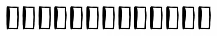 Vagabundo Extras Font LOWERCASE