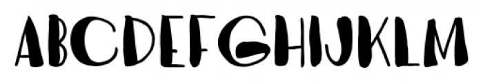 Vagabundo Fat Font LOWERCASE