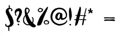 Vagabundo Medium Font OTHER CHARS