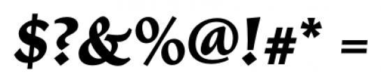 Vatican Bold Italic Font OTHER CHARS