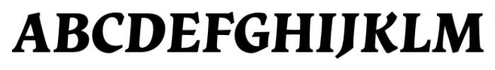 Vatican Bold Italic Font UPPERCASE