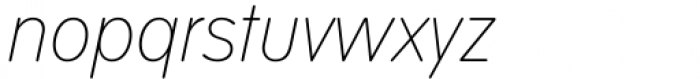 VAG Rounded Next Variable Italic Font LOWERCASE