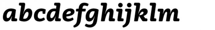Vaccine ExtraBold Italic Font LOWERCASE