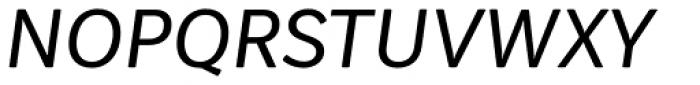 Vaccine Sans Italic Font UPPERCASE