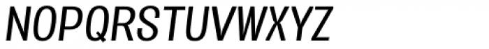 Vacer Sans Book Italic Font UPPERCASE