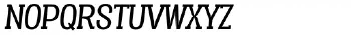 Vacer Serif Book Italic Font UPPERCASE