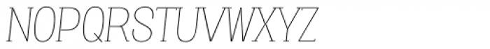 Vacer Serif Thin Italic Font UPPERCASE