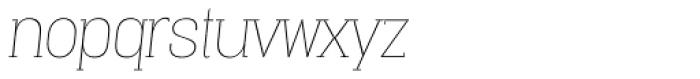 Vacer Serif Thin Italic Font LOWERCASE