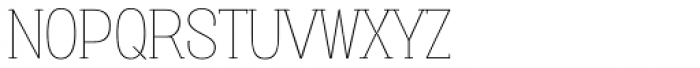 Vacer Serif Thin Font UPPERCASE
