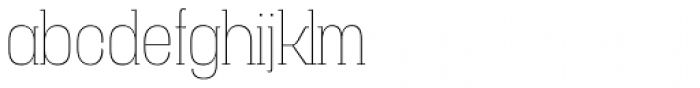 Vacer Serif Thin Font LOWERCASE