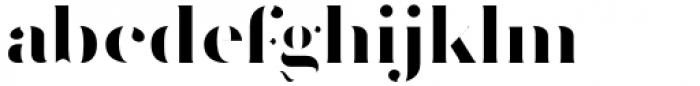 Vacui Bold Font LOWERCASE