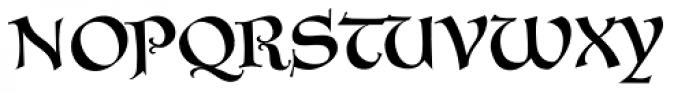 Vadstenakursive Font UPPERCASE