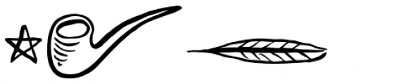 Vagabundo Elements Font UPPERCASE