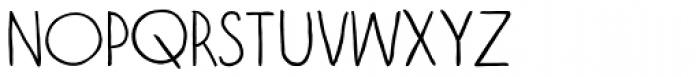 Vagabundo Light Font LOWERCASE