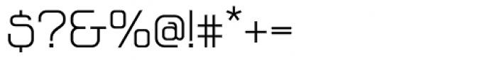 Vagebond N Light Roman Font OTHER CHARS
