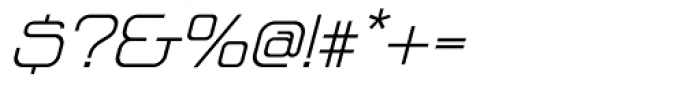 Vagebond XT Light Italic Font OTHER CHARS