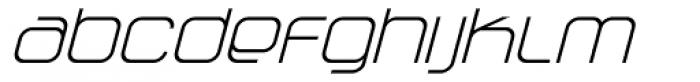 Vagebond XT Light Italic Font LOWERCASE