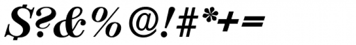 Valencia Serial ExtraBold Italic Font OTHER CHARS