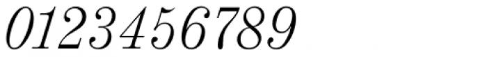Valencia Serial ExtraLight Italic Font OTHER CHARS