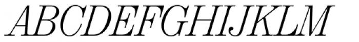 Valencia Serial ExtraLight Italic Font UPPERCASE