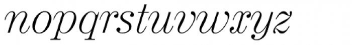 Valencia Serial ExtraLight Italic Font LOWERCASE