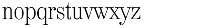 Valencia Serial ExtraLight Font LOWERCASE