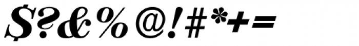 Valencia Serial Heavy Italic Font OTHER CHARS