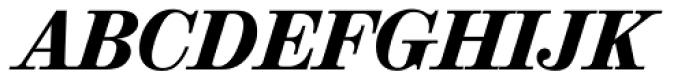 Valencia Serial Heavy Italic Font UPPERCASE