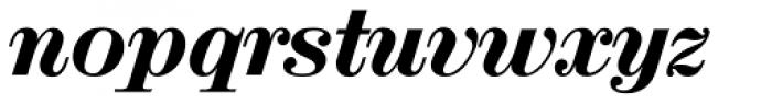 Valencia Serial Heavy Italic Font LOWERCASE