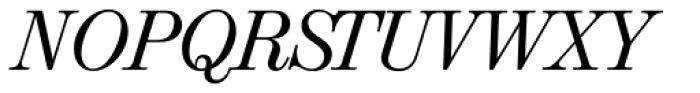 Valencia Serial Italic Font UPPERCASE