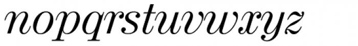 Valencia Serial Italic Font LOWERCASE