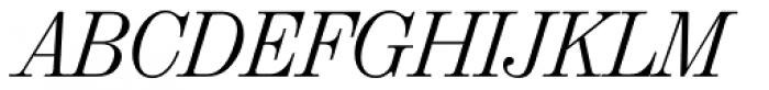 Valencia Serial Light Italic Font UPPERCASE