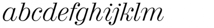 Valencia Serial Light Italic Font LOWERCASE