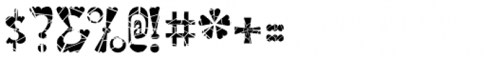Valenteena Broken Font OTHER CHARS