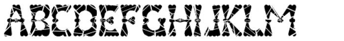 Valenteena Broken Font UPPERCASE
