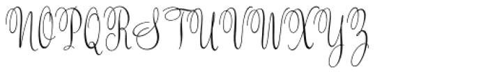 Valentine Light Font UPPERCASE