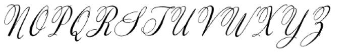 Valentine Medium Italic Font UPPERCASE