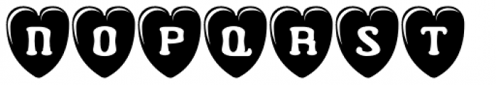 Valentine's Letters Font LOWERCASE