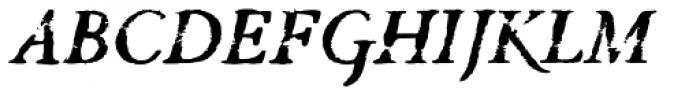 Valfieris Aged Bold Italic Font UPPERCASE