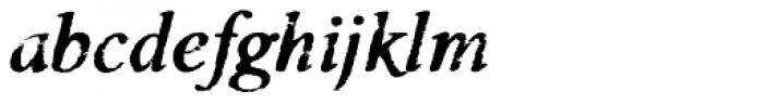 Valfieris Aged Bold Italic Font LOWERCASE