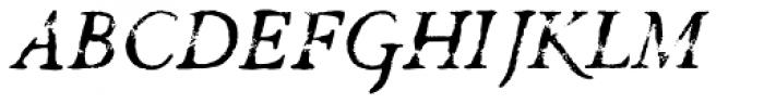 Valfieris Aged Italic Font UPPERCASE