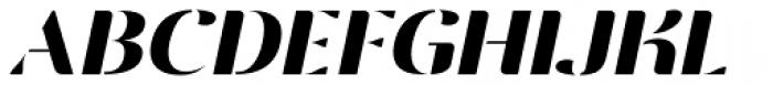 Vanage Semi Bold Italic Font UPPERCASE