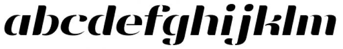 Vanage Semi Bold Italic Font LOWERCASE