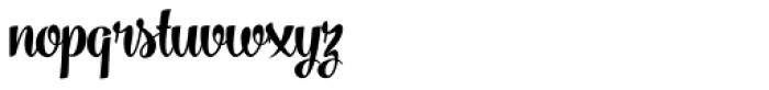 Vanilla Shot Bold Font LOWERCASE