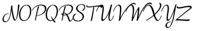 Vanilla Shot Regular Italic Font UPPERCASE